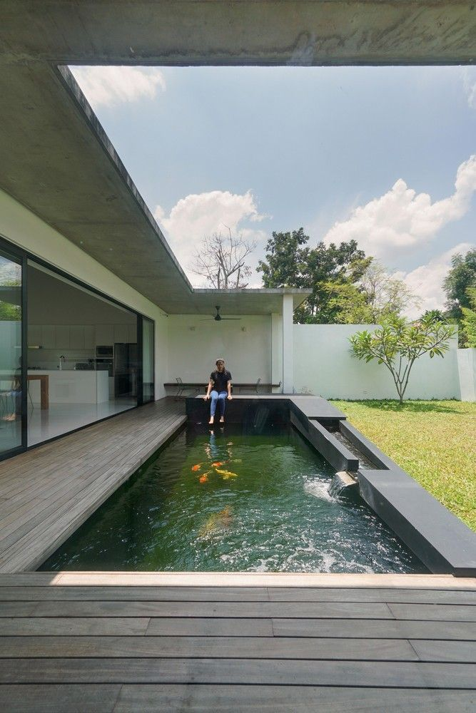 Gallery Of Knikno House Fabian Tan Architect 3 Modern Pools Modern Pond Pond Design