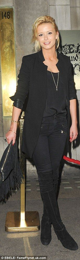 Slim pins: Blonde Made In Chelsea newcomer Georgia Toff