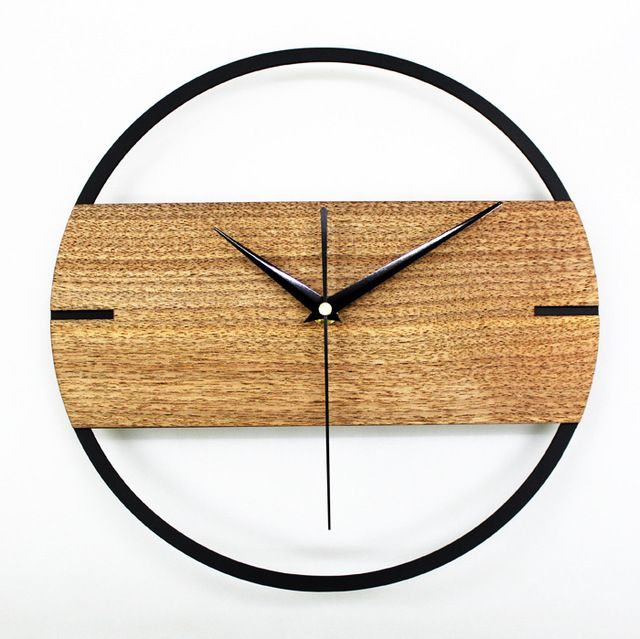Check current price PINJEAS natural wall clock brief style wooden wall clock wooden decor large round unique clock 12 INCH digital clock for Bedroom just only $31.91 - 37.79 with free shipping worldwide  #clocks Plese click on picture to see our special price for you