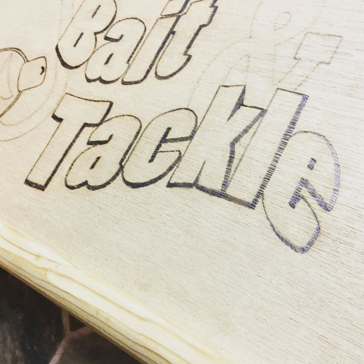 Just working on my wood burning skills... #pyrography #woodburning #fishing #tacklebox #repurposed