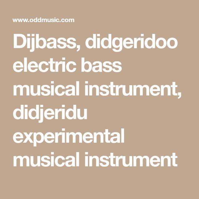 Dijbass, didgeridoo electric bass musical instrument, didjeridu experimental musical instrument