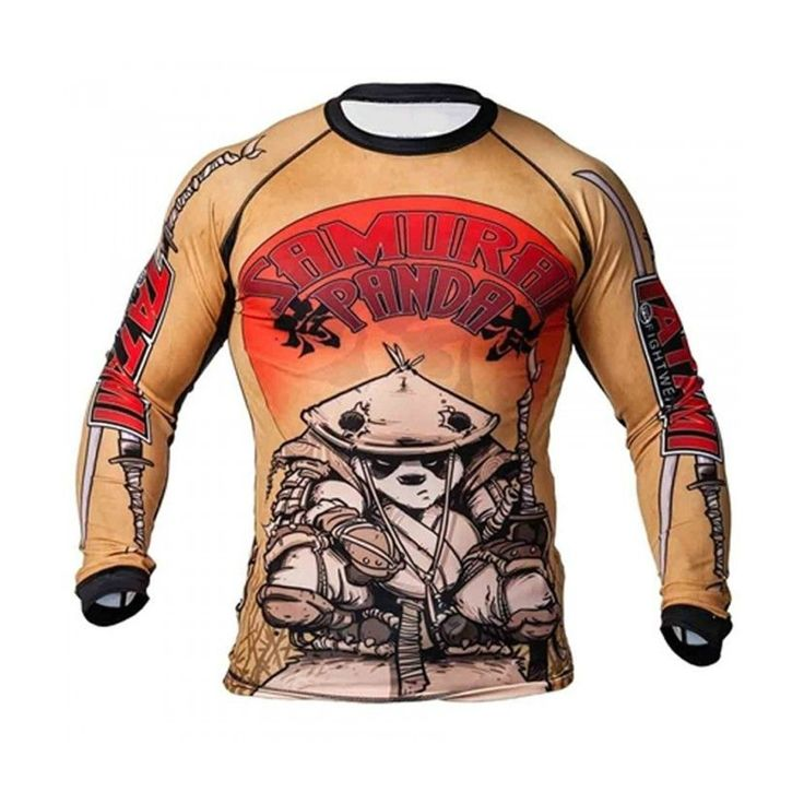 MMA Boxing Bear pattern personality breathable  sports training stretch tight long-sleeved Fitness Fight muay thai boxing yokkao