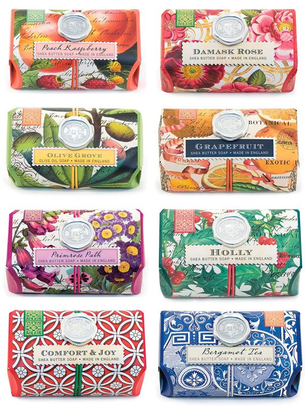Michael Design Works soaps, vintage botanical wraps