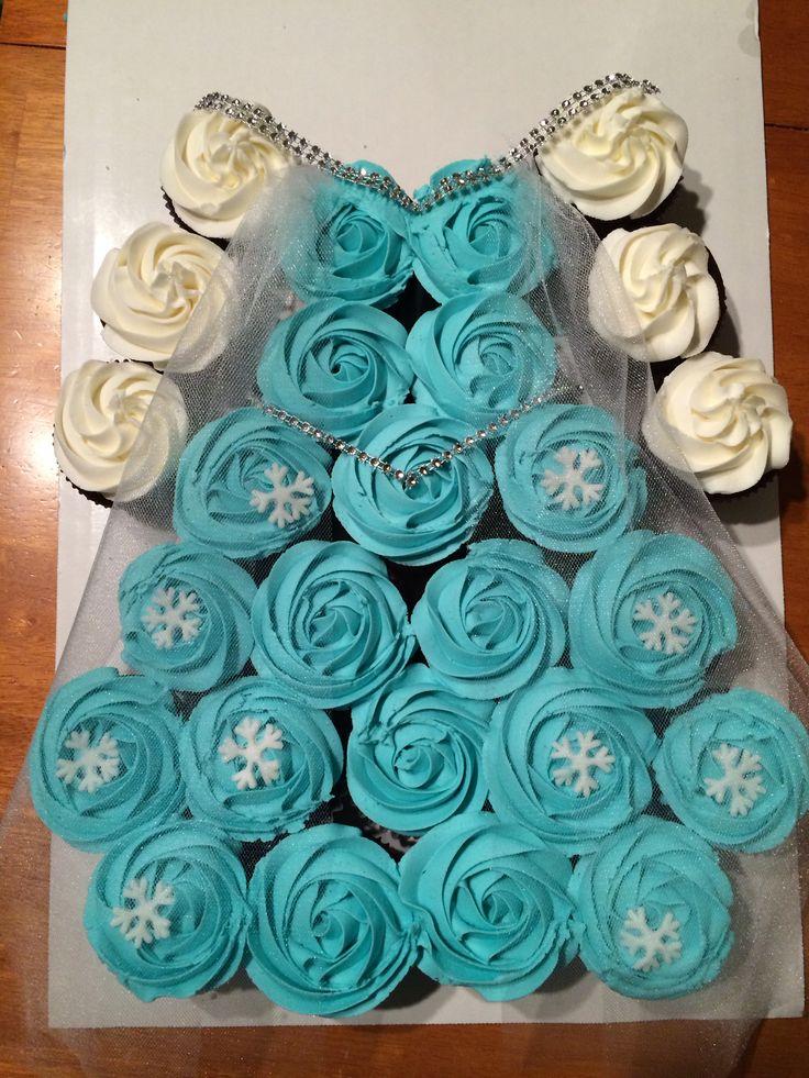 Elsa cupcake dress   Frozen Party   Pinterest