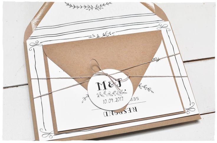 Eternal Wedding Invitation suite | Rustic outdoor barn wedding | Smitten On Paper
