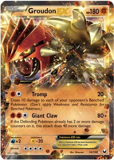 Groudon EX Dark Explorers Pokemon Card