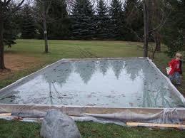 DIY Backyard Ice Skating Rink. No