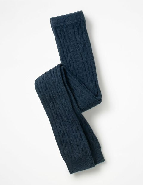 a3d86e05b611d Mini Boden Cable Footless Tights in Navy, size 2-3 | My Boden Baby ...