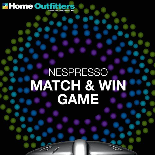 I just played the Nespresso Match and Win game from Home Outfitters and entered to win a $100 gift card! @Home Outfitters