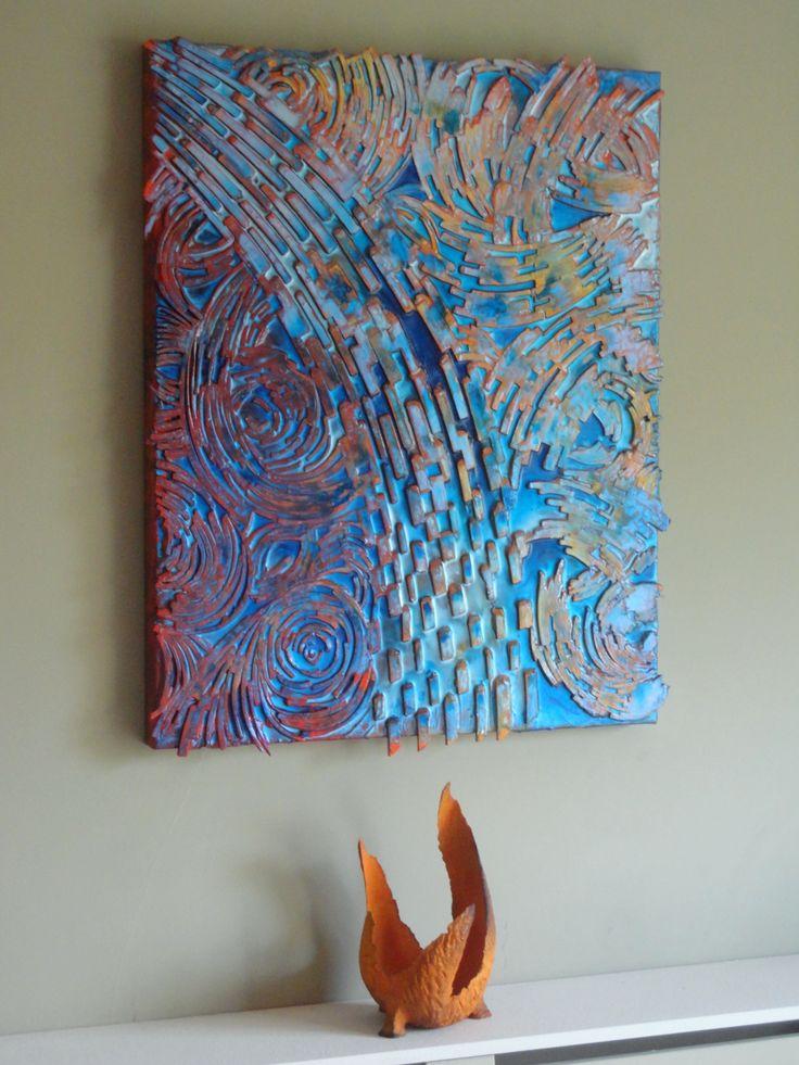 """Naranja y Azul"" Abstract Art by Paul Mason"