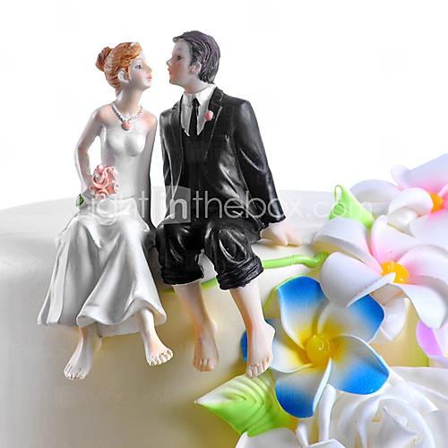 sitting couple wedding cake topper
