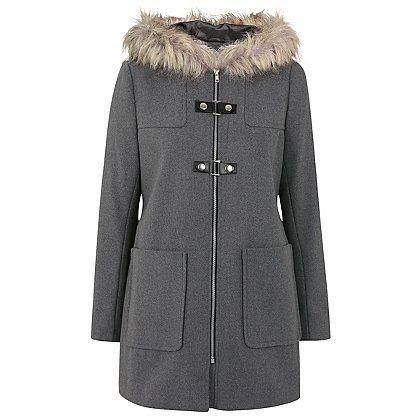 Faux Fur Hooded Duffle Coat | Women | George