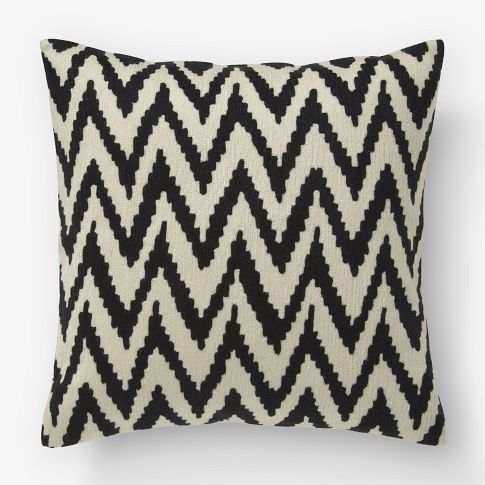 chevron crewel pillow: Pillows Covers, Westelm, Living Rooms, Chevron Pillows, Chevron Crewel, White Pillows, Throw Pillows, West Elm, Crewel Pillows