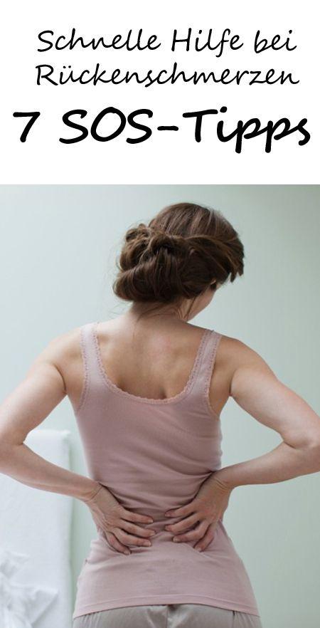 Bei akuten Rückenschmerzen heißt es: Schnell gegensteuern! Dann helfen schon kleine Maßnahmen. 7 Tipps, die sofort bei Rückenschmerzen helfen >> KLICK <<