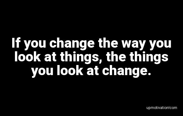 If you change the way you look