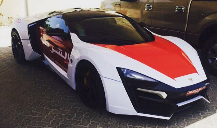 The Abu Dhabi police have just added one of the world's most expensive supercars in the world to their fleet, the Lykan HyperSport from Fast and Furious 7.