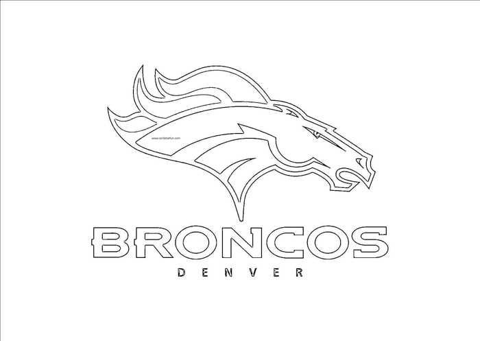 NFL Logo Coloring Pages Printable - Free Coloring Sheets Sports Coloring  Pages, Broncos, Denver Broncos Logo