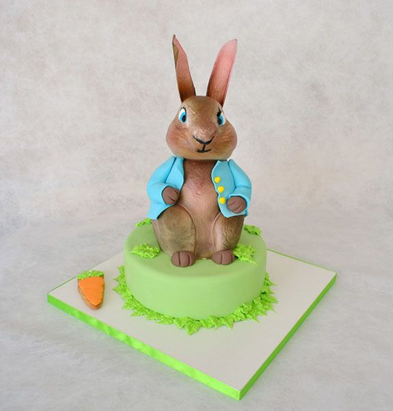 #peter #rabbit #decorated #cake #sugarpaste