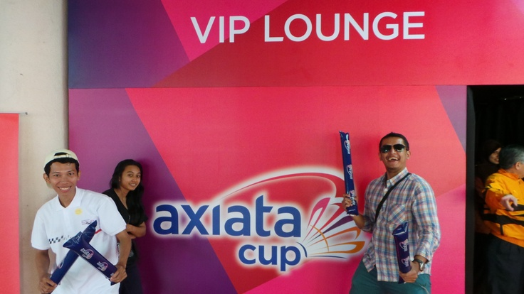 Axiata Cup Quiz Winners in the VIP Lounge