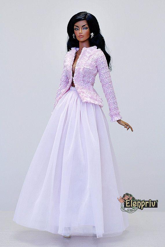 """Ballet de tutu rose pâle ELENPRIV Jupe Fashion royalty du: 16 IMMORTEL 16"""", Sybarite, Tonner et poupées de taille similaire de corps."""