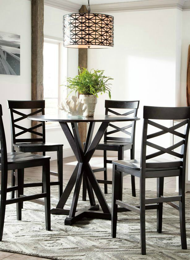 Boasting Maximum Style And Functionality This Counter Height Dining Room Table Is A Welcome Addition