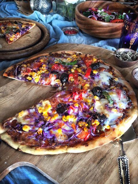 Gamze Mutfakta: Mor Lahanalı Vejetaryen Pizza