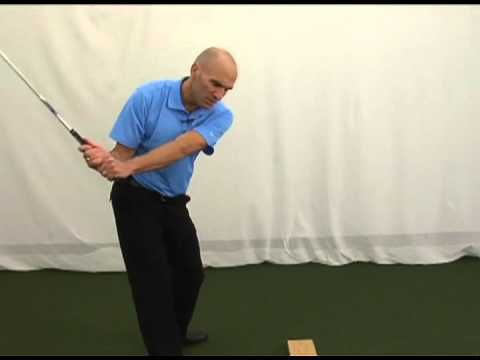 Drill for a straighter golf swing