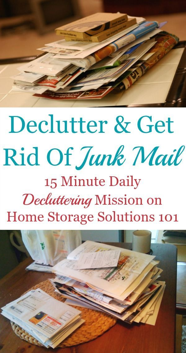How to declutter junk mail piles from your home, plus the steps to take to get rid of junk mail and keep it from re-accumulating in your home from now on {on Home Storage Solutions 101}