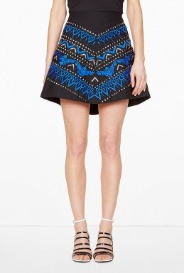 A-Line Embellished Skirt by Anhha