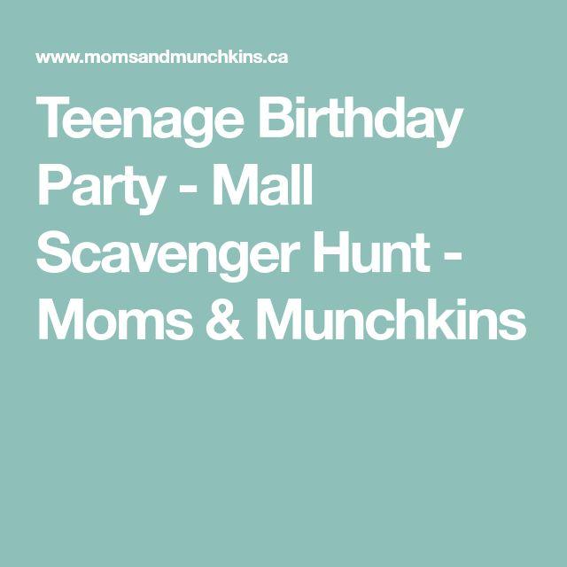 Teenage Birthday Party - Mall Scavenger Hunt - Moms & Munchkins