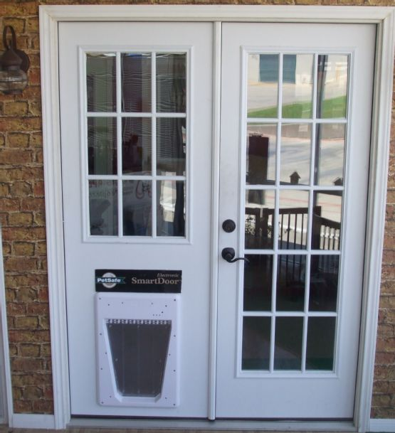 replace sliding glass door with dog doorideas