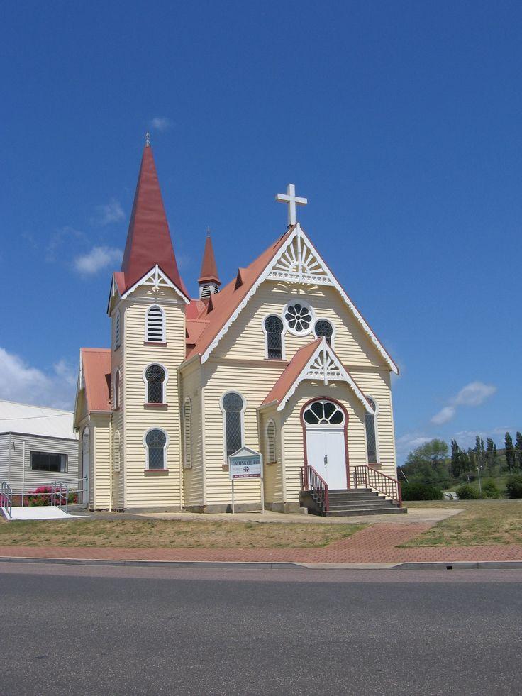 TAS - Penguin - Old Church - timber-framed constructtion
