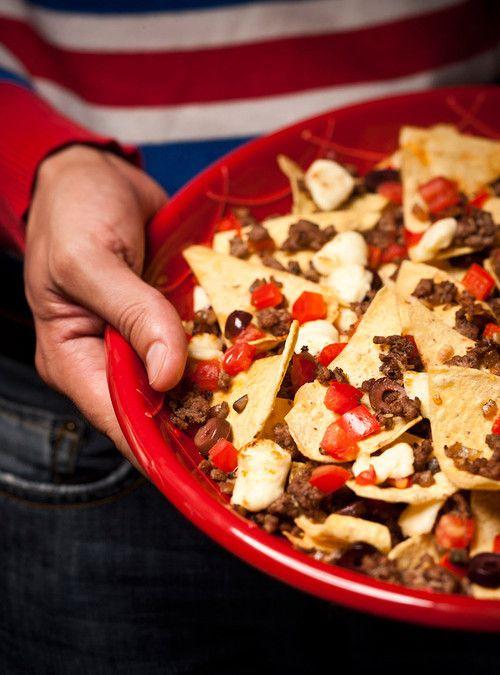 Nachos «La soirée du hockey» avec fromage en grains