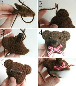 humble carnival: Bear Brooch - Free Crochet Pattern