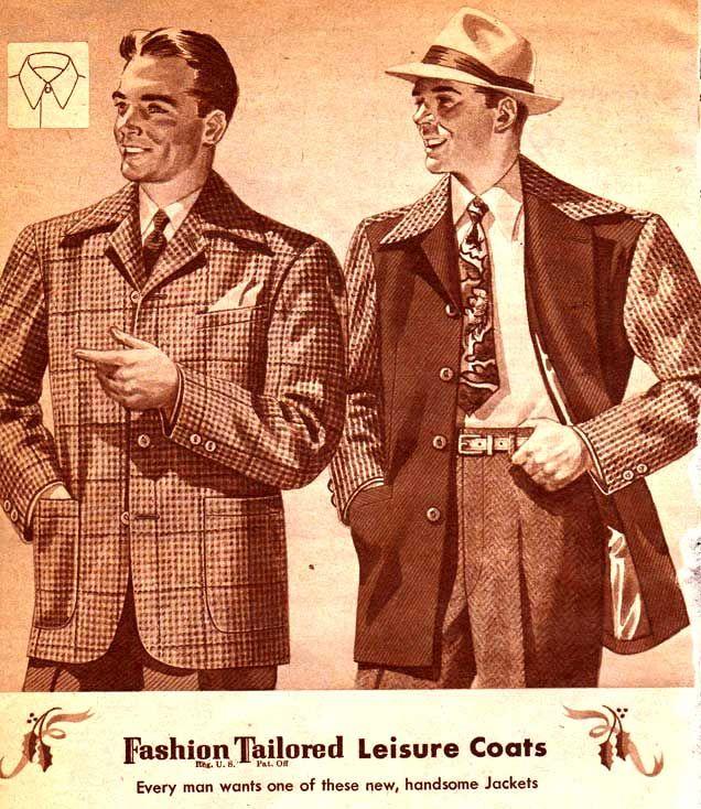 vintage mens leisure coats 1944 vintageclothing 1940s