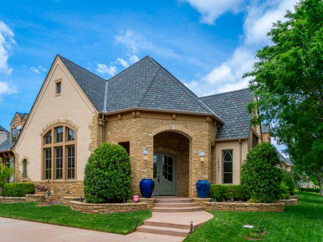 A Rare Corner Lot Home In Muirfield Village 16321 Scotland Way Has 4 Bedrooms And 3 5 Baths Recently R In 2020 Luxury Realtor What S My Home Worth Cherry Wood Floors