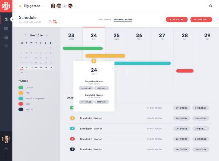 Calendar View of Project Management