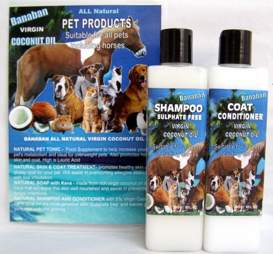 BANABAN 'Sulphate Free' Shampoo and Coat Conditioner for PETS