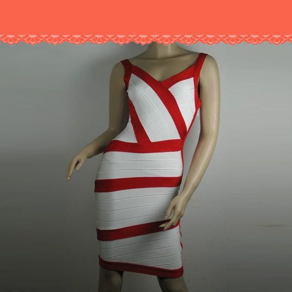 Herve Leger Couture Dress in Red or White