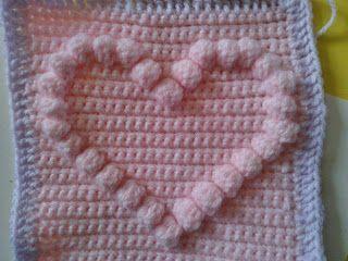 Bobble Heart Pattern ~ free pattern
