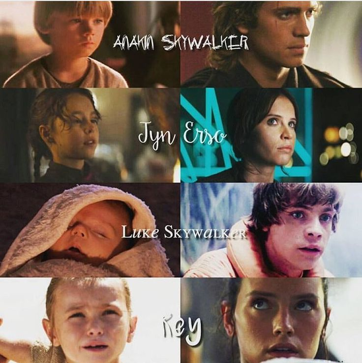 They show Ani, Jyn, and Rey as kids, but they should show Luke as a child. Wtvr.
