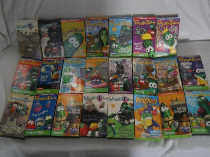 Lot Of 23 Veggie Tales Vhs Tapes Classics Amp Sing Alongs