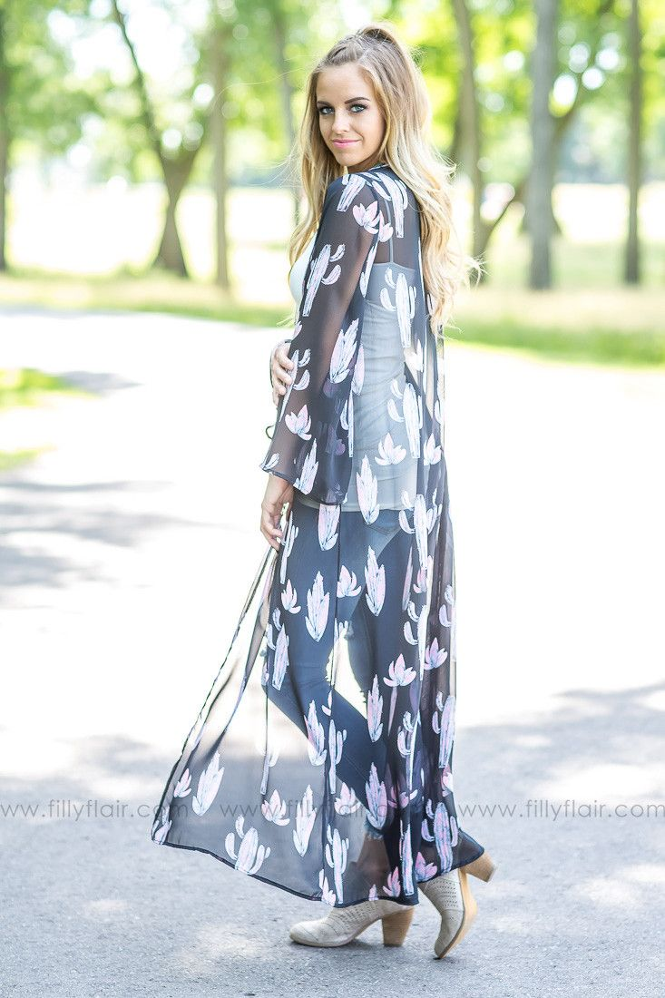 Floor length kimonos