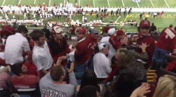 Alabama Fan Freaks Out, Attacks OU Students With Flying Fists Of Fury During Bowl Game
