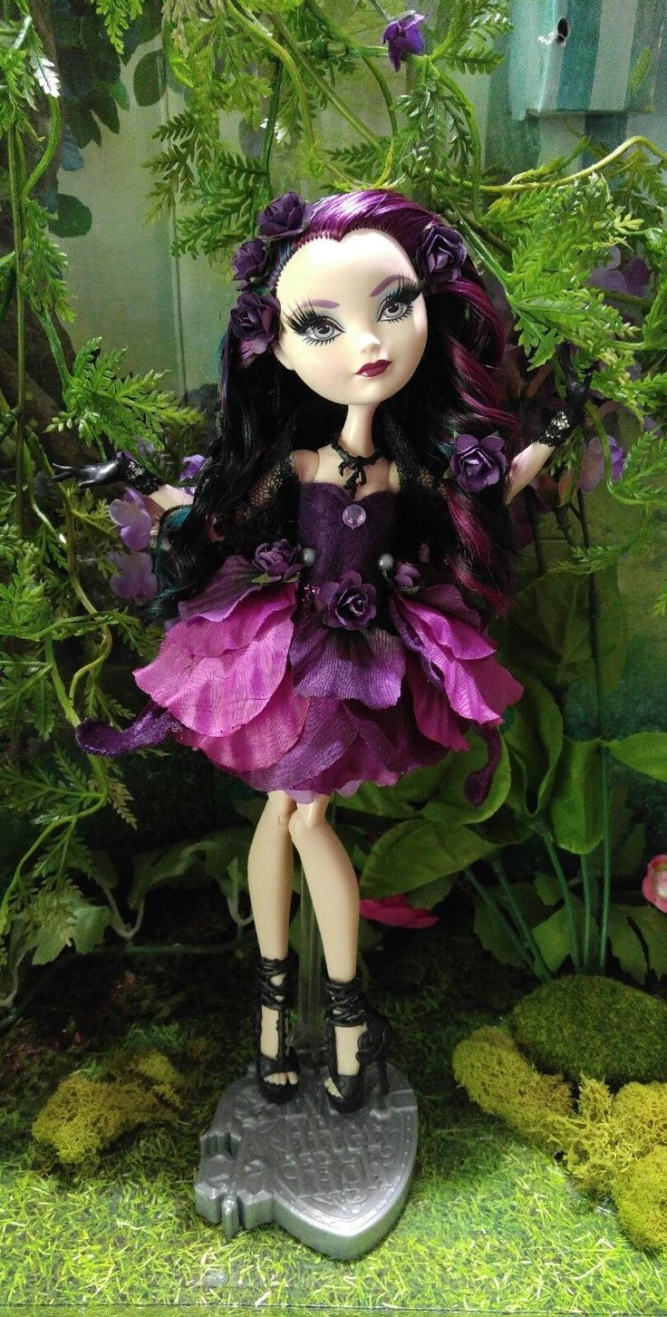 Custom Ever After High Way Too Wonderland Raven Queen Doll | eBay