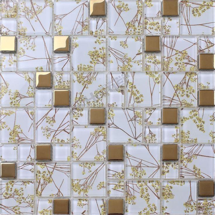 Экспресс-доставка бесплатно! стеклянные плитки мозаики золотой цвет для ванной комнаты плитка для стен гостиной, стены, мозаика