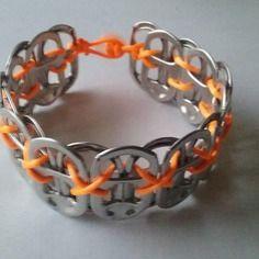 Bracelet capsules de canettes - créabijoux lolo - bijoux fantaisies