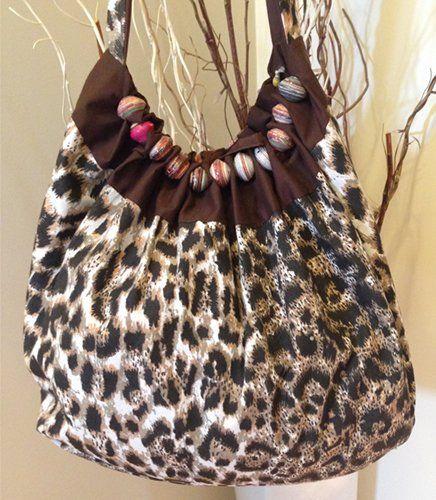 Leopard Print Bag with Beads | Indigo Heart - Fair Trade Fashion A$36.95