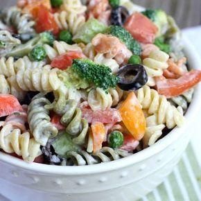 Сливочный летний макаронный салат