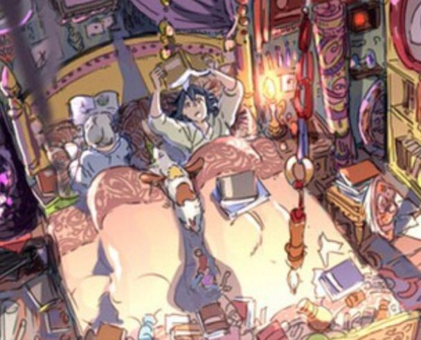 Howls moving castle. Its something, I like book at night.